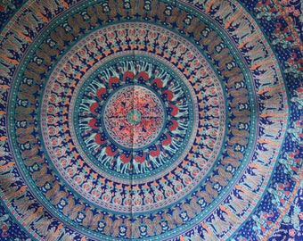 Vibrant Blue Tapestry