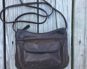 Small Stone Mt Brown Leather Purse