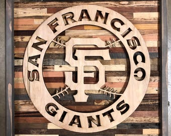 Rustic San Fransisco Giants wall art