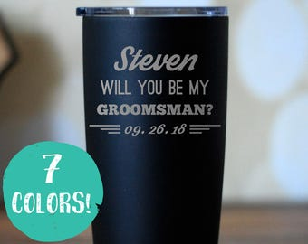 Groomsman Proposal Insulated Tumbler, Personalized Groomsman Gift, Best Man Gift, Will You By My Groomsman, Wedding Party Favors, Groom