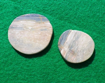 Seaside Jasper set of two (one large, one small) golf ball markers