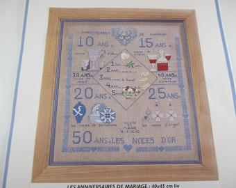 Kit Embroidery Kit cross stitch, the wedding anniversaries