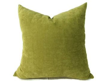 Pistachio Pillow 20x20 Pistachio Pillow Cover 16x20 Pistachio Velvet Pillow Cover 16x16 Pistachio Velvet Pillow 12x22 Pistachio  Pillows