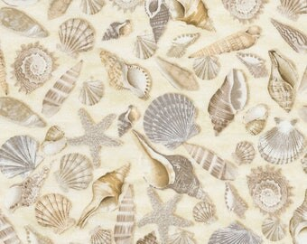 Timeless Treasures - Beach - C5353- 121476- 100% Quality Cotton by the Yard or Yardage