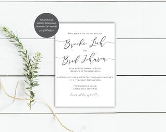Simple + Modern Invitation