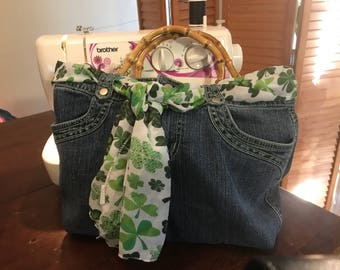 Upcycled/Recycled Denim Jeans Bags