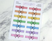 Bow Headers - Pastel Rainbow | 14 Bow Dividers, Bow Headers, Bow Planner Stickers (Q073)