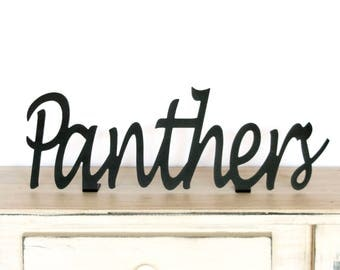Panthers Sign / Panthers / Panthers Gift / Panthers Decor / Panthers Metal Sign / Sports Decor