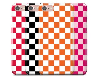 iPhone Case, iPhone 7 Case, iPhone 7 Plus Case, iPhone 6S Case, iPhone 6, Samsung Galaxy Case, Galaxy S8 Case, S8+, Checkered Print Pattern
