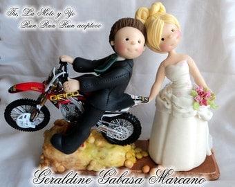 Cake Topper Custom Personalized wedding/grooms personalized for wedding cake by Geraldine Gabaa