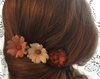 Bronze, Copper bridesmaid, wedding comb, Bridal hair piece, girls hair accessories, decorative, Girls head piece, Flower girl