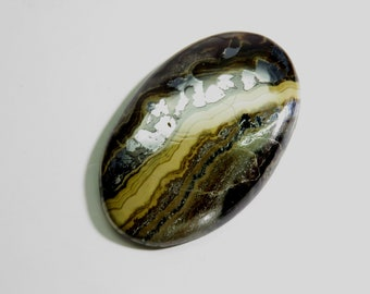 84Cts Schalenblende Oval Cabochon Loose Gemstones Gorgeous Top Quality Natural Schalenblende Gemstone For Jewelry Making 41x27x6mm