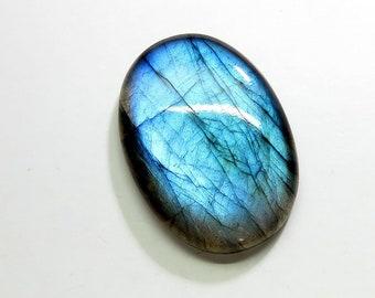 Natural Labradorite Cabochon Loose Gemstones Oval Top AAA Blue Fire Labradorite Gemstones Labradorite Jewelry Making 33X24X6mm 45Cts