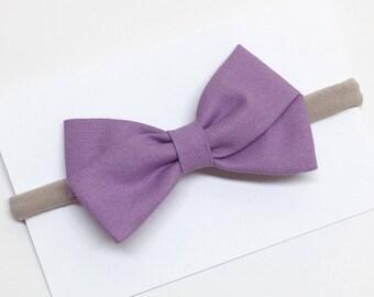 Purple Hair Bows - Lupine - Hair Bows - clip or headband