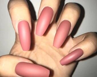 Rosé Acrylic Nails