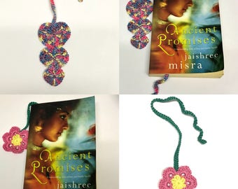Crocheted book marks, Mothers day, crochet, book page markers, book mark