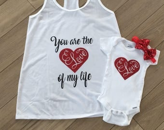 Baby Valentines Clothes, New Mom Gift, Mom and Baby Matching Outfits,Mommy and Me,Mom Life,Mom and Daughter,Baby Girl Clothes,Valentines Day