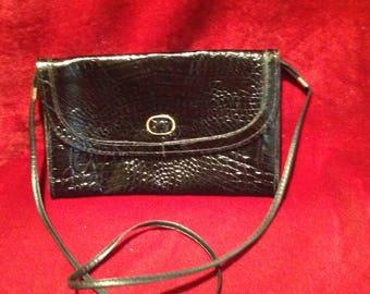Vintage Ladies Small Black Shoulder Bag / Purse