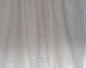 curtain or valance Ecru English embroidery and lace