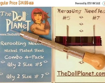 SUMMER SCORCHER SALE 20% Doll Hair Rerooting Tool Kit  with 4 Cut Steel Needles for Rerooting Dolls and Rehairing My Little Pony Internation