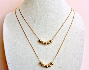Bloom necklace with chain gold plated