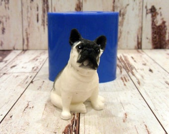 French Bulldog - silicone mold for soap and candles making soap mold