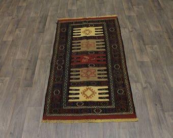 Original Rare Tribal Hand Woven Sumak Wool Persian Area Rug Oriental Carpet 3X6