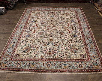 Elegant S Antique Handmade Light Tabriz Persian Rug Oriental Area Carpet 10X13