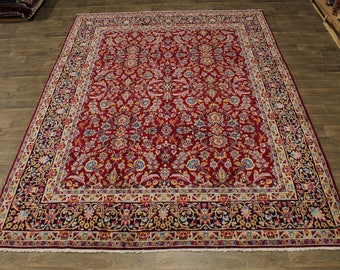 Astounding Unique Handmade Floral Kerman Persian Rug Oriental Area Carpet 10X13