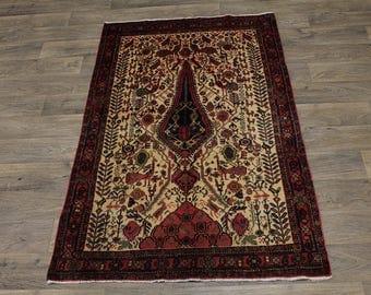 Beautiful Unique Design Handmade Balouch Persian Rug Oriental Area Carpet 4X6