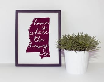 Mississippi State Home Print