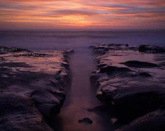 La Jolla Reef San Diego Sunset Photography Print