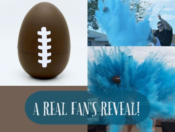 "10"" FOOTBALLS 8X POWDER Gender Football Reveal Ball with Glitter Gender Reveal Football! Ships Same Day!"