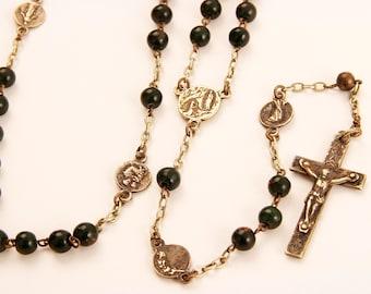 Bloodstone Antique Rosary