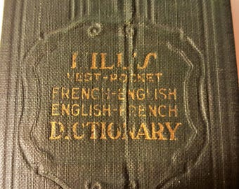 Hill's French-English English-Franch Dictionary Little Book Mini Book
