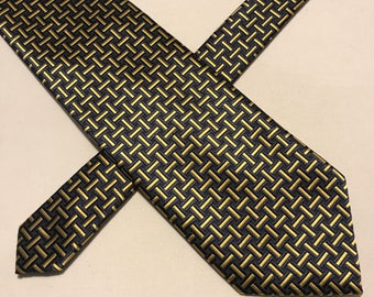 Vintage Canda for C & A black and gold classic tie