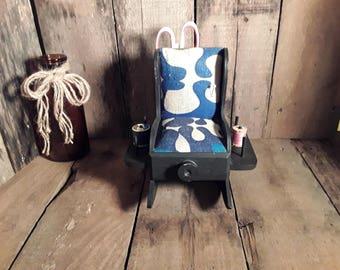 Vintage Pin Cushion and Thread Holder Chair Rocking Chair