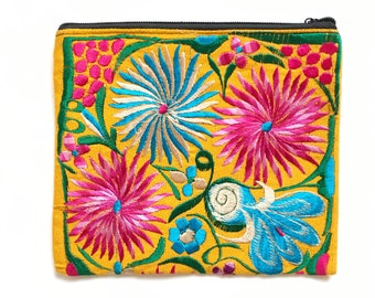 Mexican embroidered bag, Mexican bag, Mexican clutch, Embroidered clutch, Mexican purse, Mexican handbag, Boho bag, Boho clutch, Boho purse