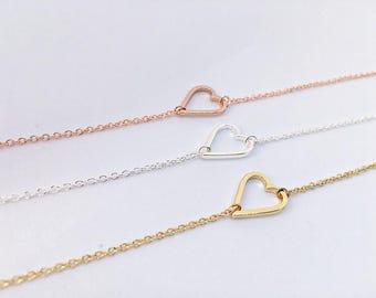 3 x soft strap ROSÉ GOLD heart: Girlfriend