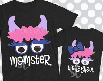 Halloween svg, Momster svg, Little Ghoul svg, monster svg, png, eps, DXF, Mother, daughter, halloween costume, ideas, shortsandlemons