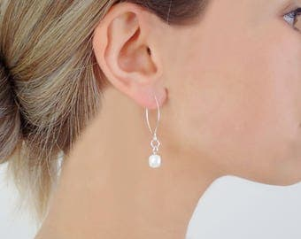 925 Sterling Silver Dangle Earrings with Ball