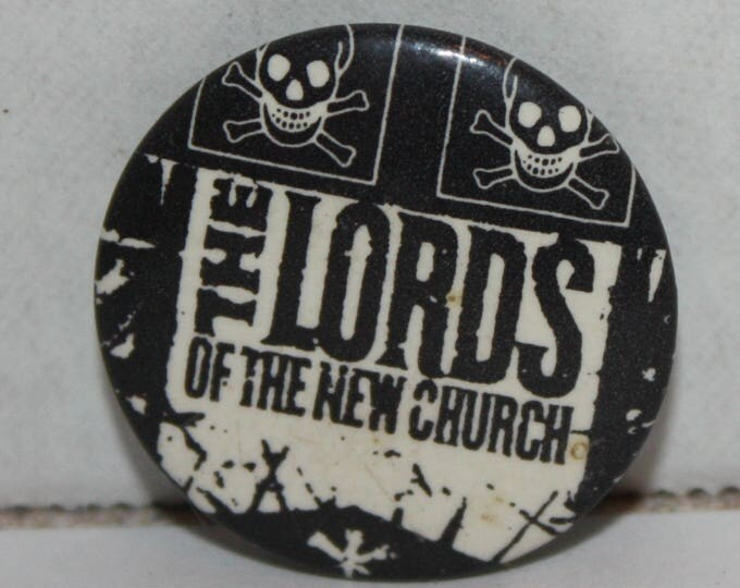 Lords of the New Church Rock Band Logo 1980's Pinback Button