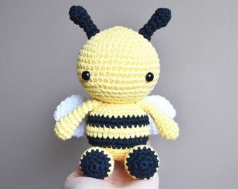 Fern the Bee: Crochet Bumble Bee Toy, Bumble Bee Amigurumi, Stuffed Animal, crochet toy, cute, crochet bee toy