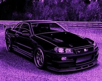 Nissan Skyline GTR34 Printable Image For JDM Fans-R34 GTR