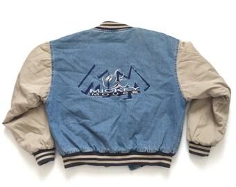 Mickey Mouse denim jacket sz M