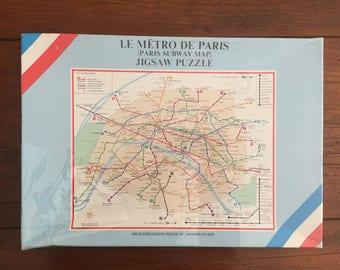 Vintage Le Metro De Paris  (Paris Subway Map) Jigsaw Puzzle