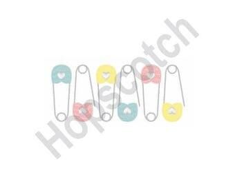 Diaper Pin - Machine Embroidery Design