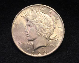 1922 unc PEACE SILVER DOLLAR  inv453very nice one