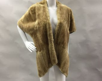 Blonde Mink Fur Stole Fur Wrap Mink Wrap Hollywood Fur Bridal Mink Wrap 1950's Fur Gifts for Her for Wife Winter Fall Wedding Material Girl