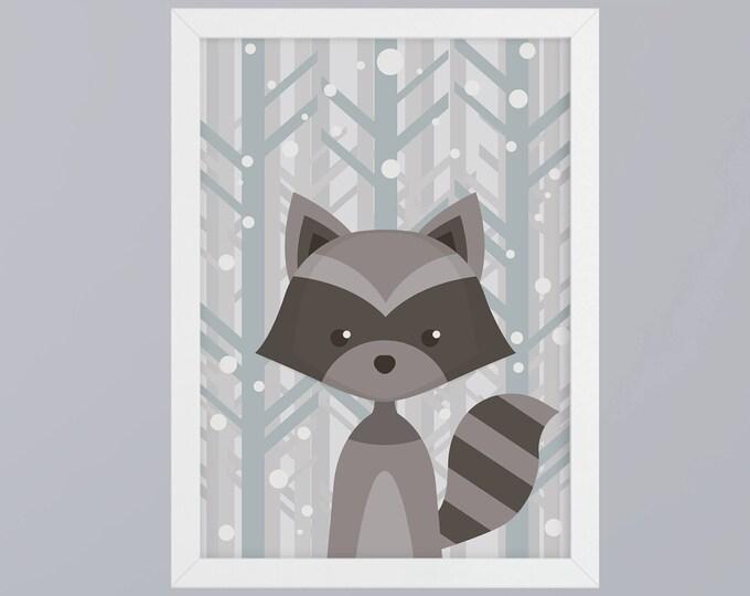 Raccoon - unframed art print
